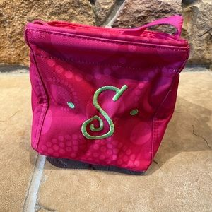 """Thirty-One pink small tote with """"S"""""""